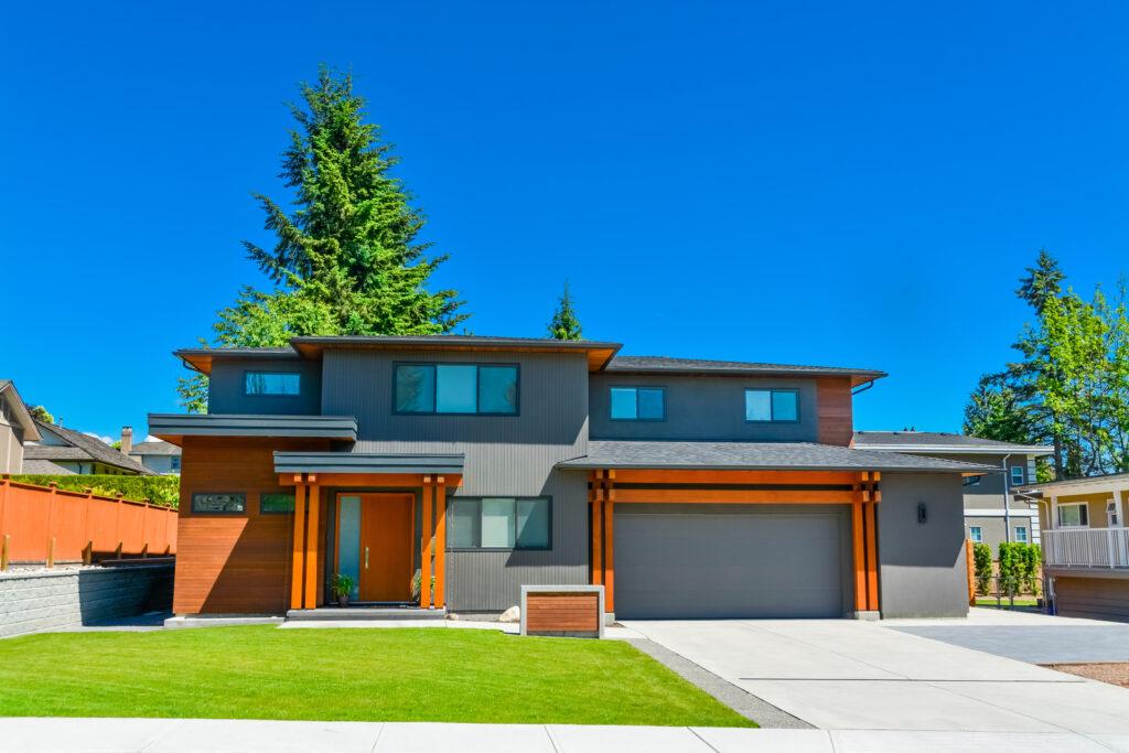 a nice modern house