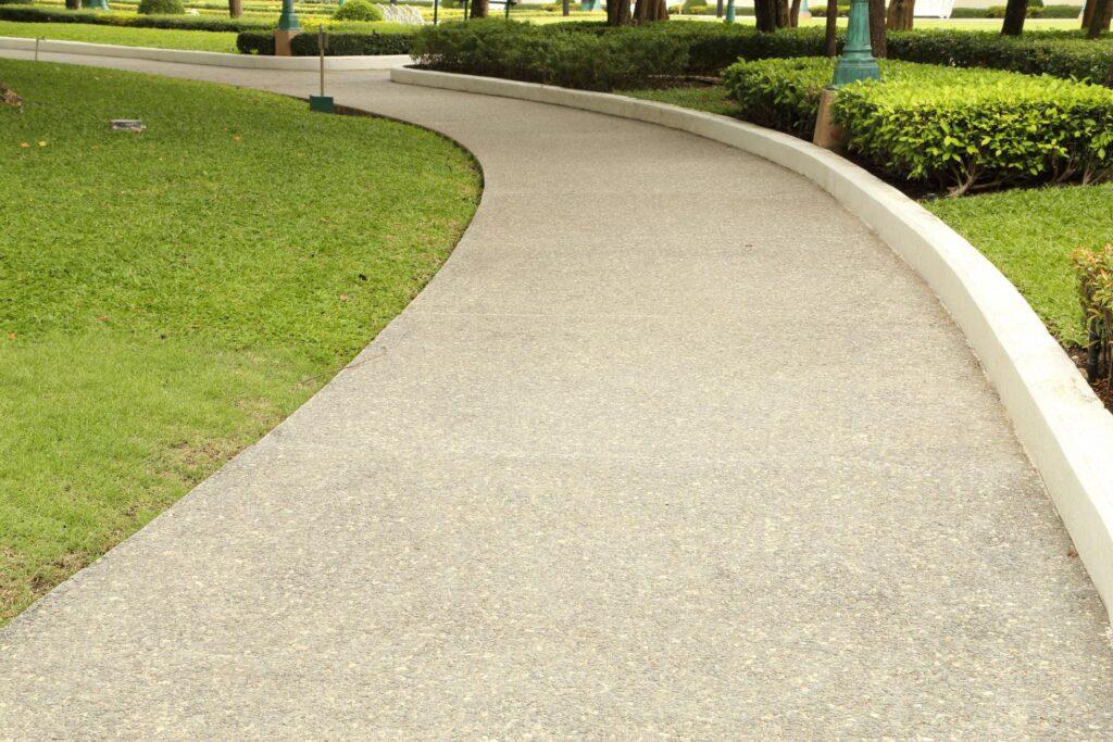 a nice concrete walkway